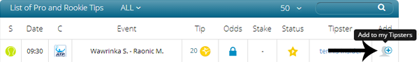 Add to my Tipsters